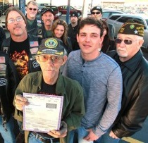 Motorcycle Club Helps Vet Keep His Car