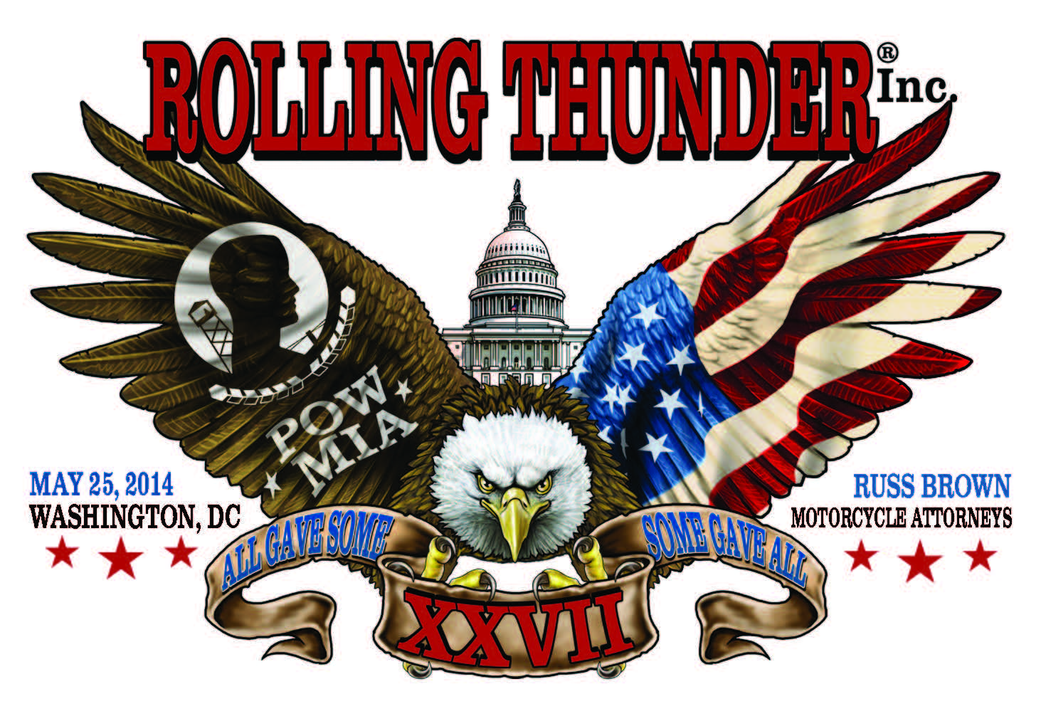 Rolling Thunder Ride For Freedom Washington DC 2014