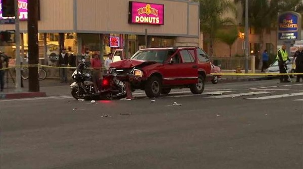 Los Angeles Motorcycle Officer Critically Injured In Accident