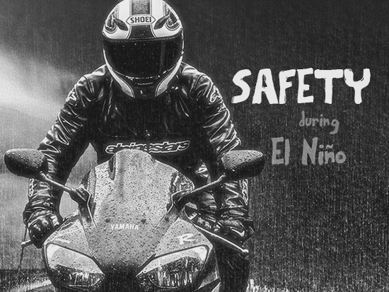 Motorcyclists Prepare for El Nino