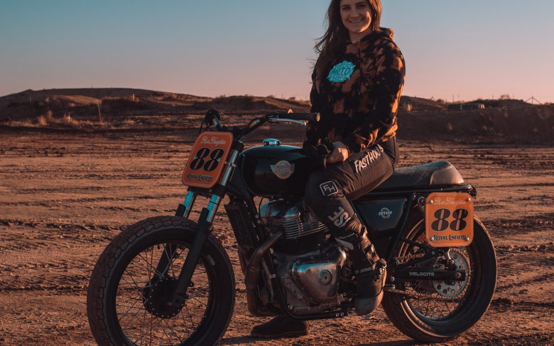 Lana MacNaughton of the Women's Moto Exhibit